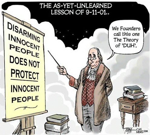 The 2nd amendment ensures the 1st amendment