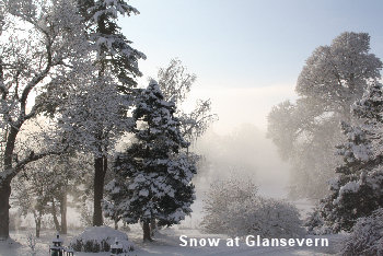 Snow at Glansevern