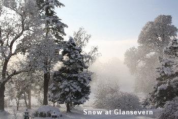 Snow at Glansevern