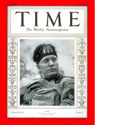 Mussolini Time mag