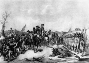 Surrender of Hessian troops to General Washington