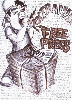 Rights of american citizens the liberty of speech and of the press