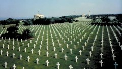 Normandy Cemetery in France where they buried the Americans who gave their all saving Europe from the atrocities of Hitler, the Nazi's and their allies.