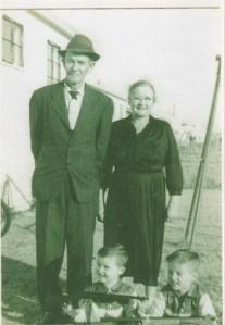 Grandma Nellie (Ricks) Burden and Grandpa Butch Burden