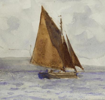 Bawley running up the coast by H S Tuke