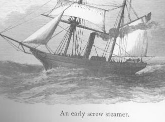 Early Screw Steamer