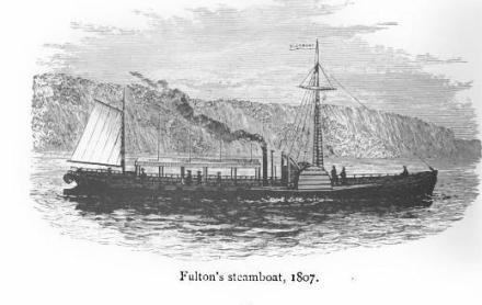 Fulton's Steamboat 1807