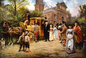 George Washington arriving at Christ Church, Easter Sunday, 1795