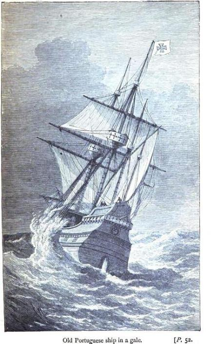 Old Portaguese Ship in a Gale