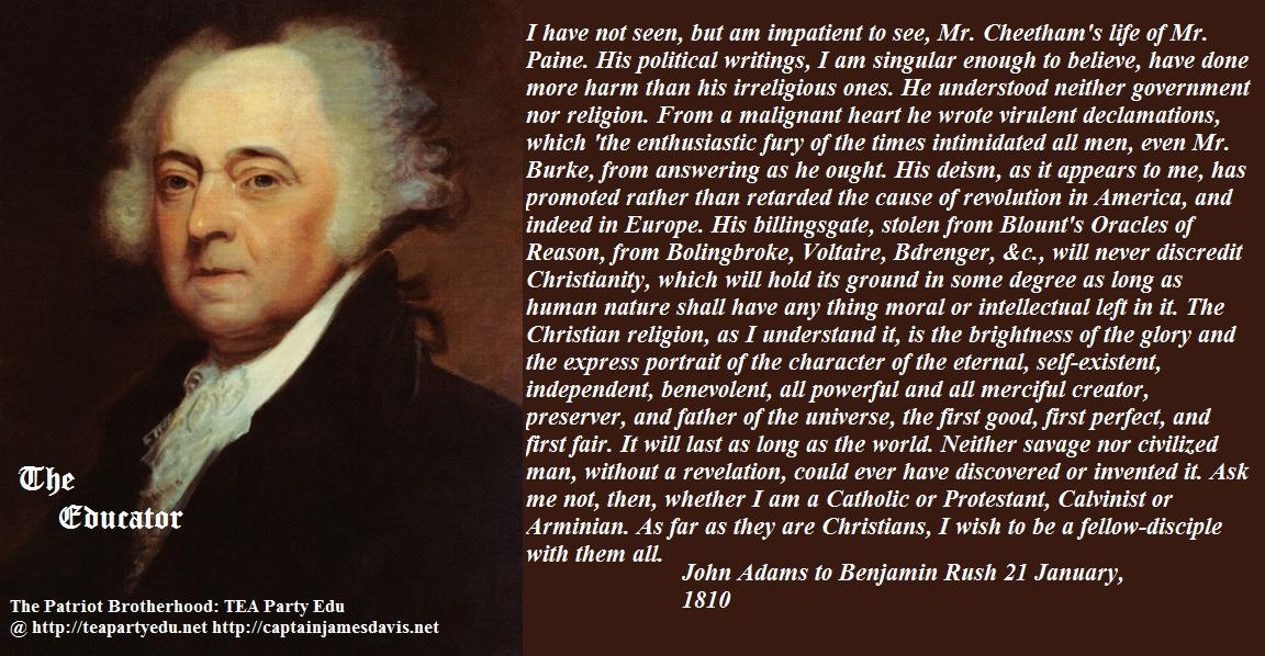 Quotes About George Washington By John Adams: John Adams Letter To Benjamin Rush; 21 January, 1810
