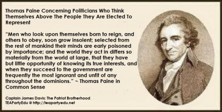 Thomas Paine quote Politicians
