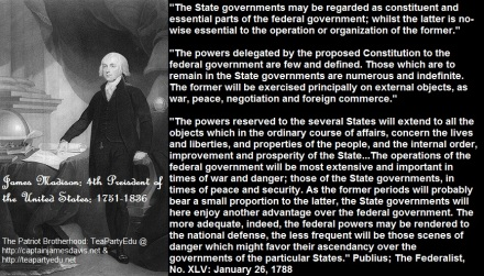 James Madison concerning State Rights vs Federal (Click to enlarge)