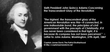 John Quincy Adams quote regarding tthe Revolutionary War of Independence
