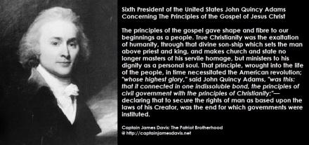 John Quincy Adams quote The Gospel of Jesus Christ