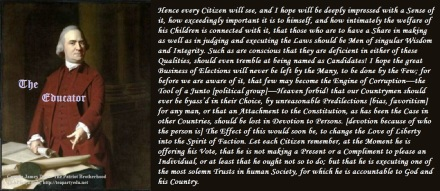 Samuel Adams Regarding Our Duty in Elections (Click to enlarge)