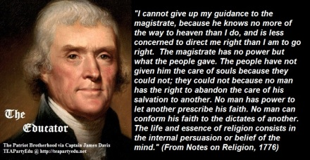 Thomas Jefferson Concerning Christian and Religious Duty (Click to enlarge)