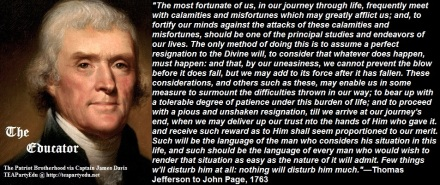 Thomas Jefferson concerning Divine Will