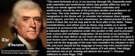 Thomas Jefferson regarding God's Divine Will (Click to enlarge)