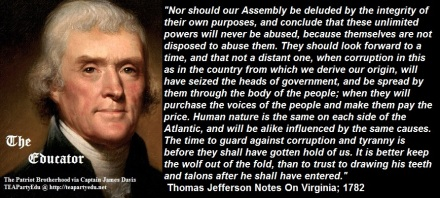 Thomas Jefferson on Foreseeing Abuses by Government (Click to enlarge)