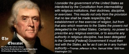 Jefferson Concerning the 1st Amendment (Click to enlarge(