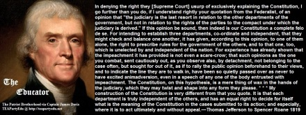Thomas Jefferson Supreme Court Usurpation of Power (Click to enlarge)