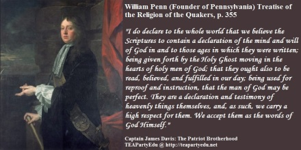 William Penn quote concerning the Holy Ghost