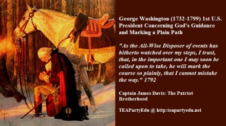George Washington quote concerning the guidance of God.