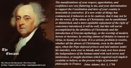 John Adams quote regarding Christianity