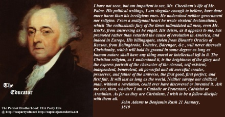John Adams Quote regarding Christians