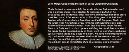 John Milton quotes regarding Jesus and Christianity