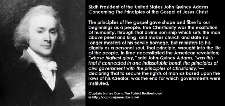John Quincy Adams quotes regarding the Gospel of Jesus Christ