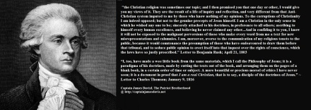 Thomas Jefferson quote regarding his Bible