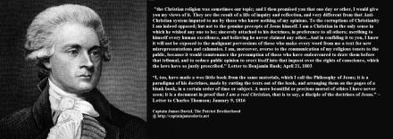 Thomas Jefferson quote regarding his Bible