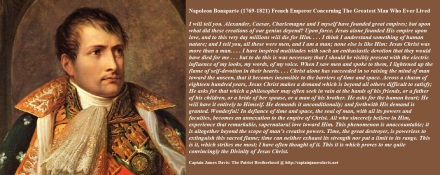 Napoleon Bonaparte quotes regarding Jesus Christ