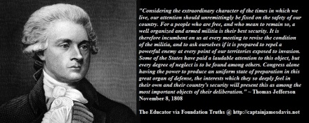 Well Armed Militia Quotes by Thomas Jefferson